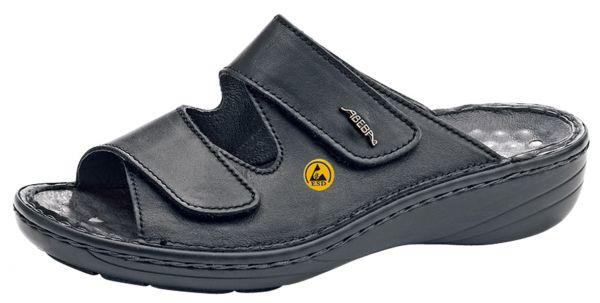 Abeba 36819 Reflexor Comfort Clog schwarz ESD - OB SRB Berufsschuhe