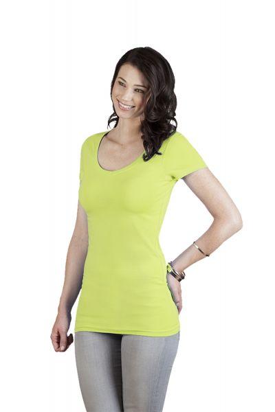 Promodoro Women's Longshirt 95 % Baumwolle, 5 % Elasthan, 180 g/m Nackenband und verstärkte Schulter