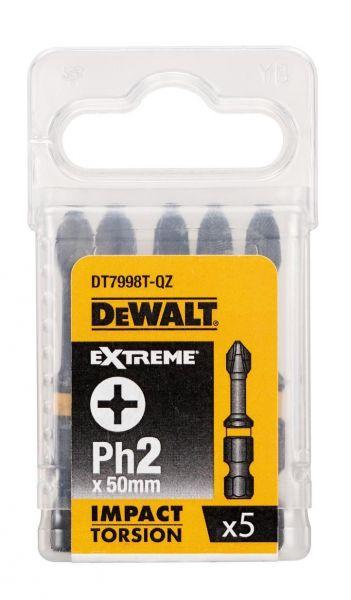 DeWalt DT7998T, EXTREME Impact Torsion Schrauber-Bit 5 x PH2