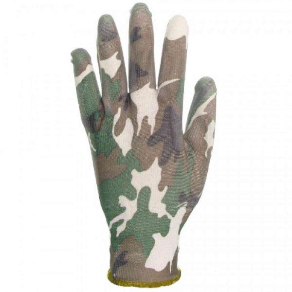 CrazyGloves Damenhandschuhe 10er Pack Camouflage Größe M/8