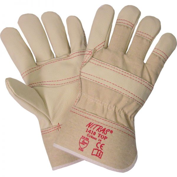 Nitras 1410 Arbeitshandschuhe Leder Handschuh Allround