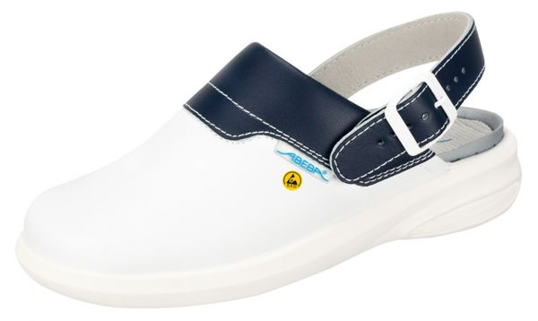 Abeba 37622 Easy 37622 Clog weiß/blau ESD - OB SRC Berufsschuhe