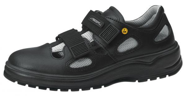Abeba 31136 light Sandale schwarz ESD - O1 SRA Berufsschuhe