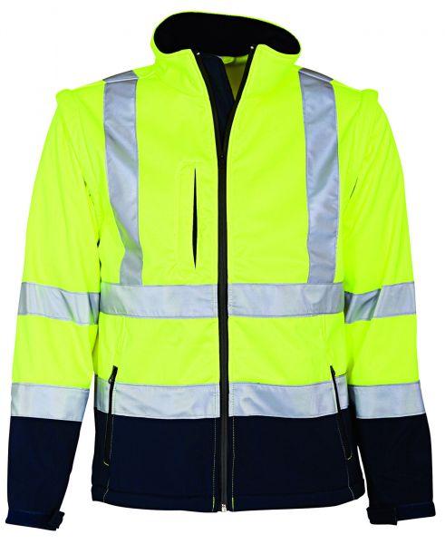 Elka Warnschutz Softshell Jacke mit abnehmbaren Ärmeln