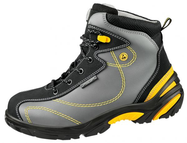 Abeba 34252 Crawler Stiefel grau/ gelb - S3 SRC Berufsschuhe