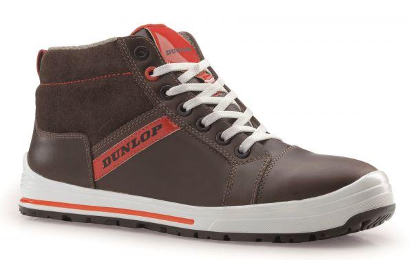 Dunlop Sicherheitsschuhe Metallfrei Streer Sneaker Brown High S3 SRC