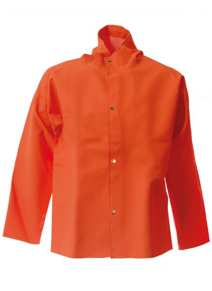 Elka Regenjacke PVC Light in Oliv und Orange
