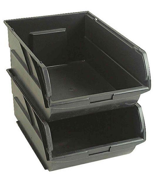 Stanley Lagersichtkästen schwarz Box Gr. 4 (10 Liter)