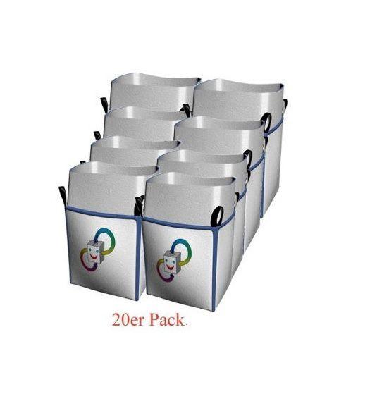 Ixkes 20er Pack Big-bag 90x90x110 cm mit Schürze zum zubinden