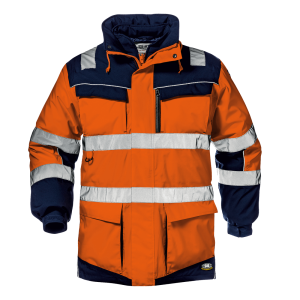 SIR Regimental Split Warnschutz Jacke 4in1 orange/blau