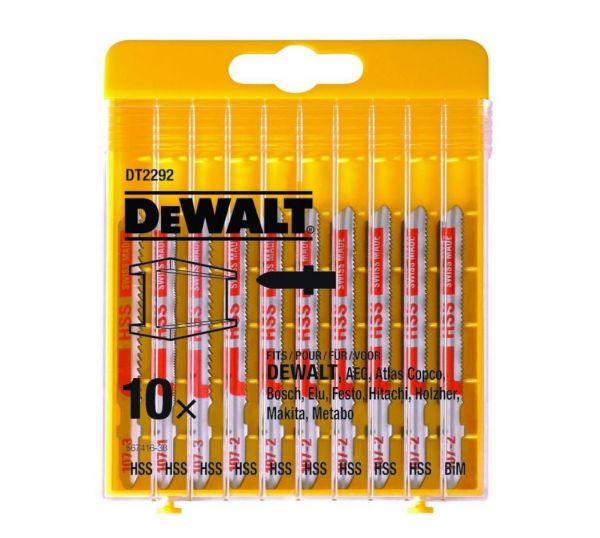 DeWalt DT2292, 10tlg. HSS-Stichsägeblätter-Set - Satz Metall