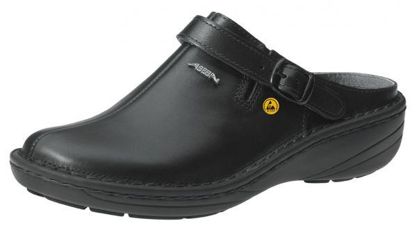 Abeba 36813 Reflexor Comfort Clog schwarz ESD - OB SRB Berufsschuhe