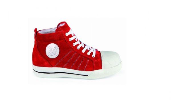 2work4 Sicherheitsschuhe S1P Sicherheitsschuhe Redbrick Sneaker Red