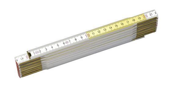 Stanley Gliedermaßstab 2m Holz weiß-gelb