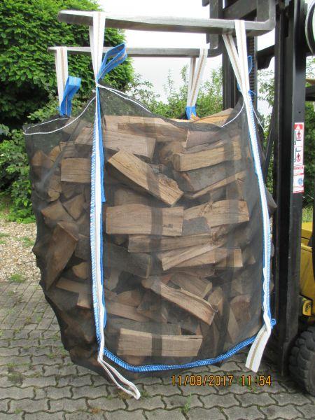 Ixkes Vollnetz HolzBag 120cm mit Sternboden , Kaminholz / Brennholz / Woodbag