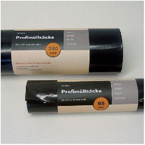 Noor Profimüllsäcke 240l 10er Rolle 100x125cm schwarz