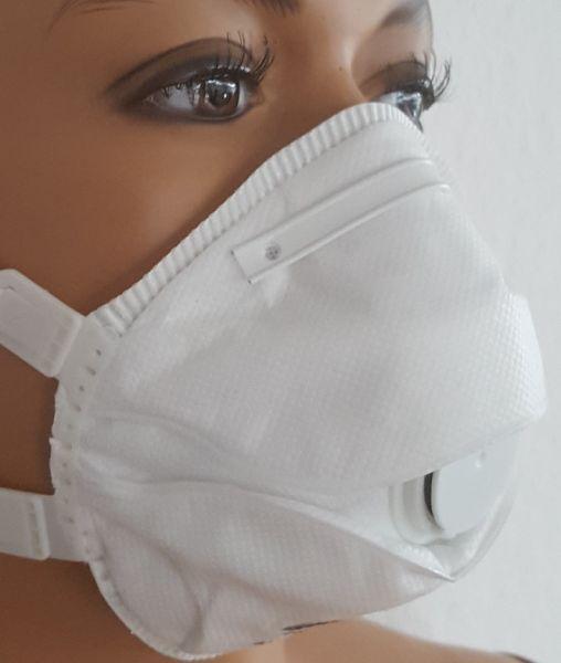 5x Staubschutzmaske FFP3 mit Ventil nach EN149 - Staubmaske Atemschutzmaske Atemschutz