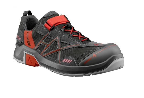 HAIX CONNEXIS Safety T S1 low - grey/red Gr. 12