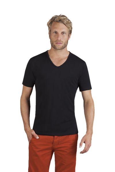 Promodoro Men's Stretch V-Neck-T-Shirt 95 % Baumwolle, 5 % Elasthan angenehmer Tragekomfort dank Ela